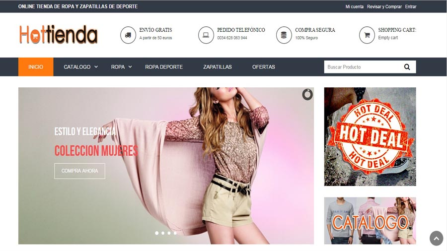 Уеб сайт hottienda.com